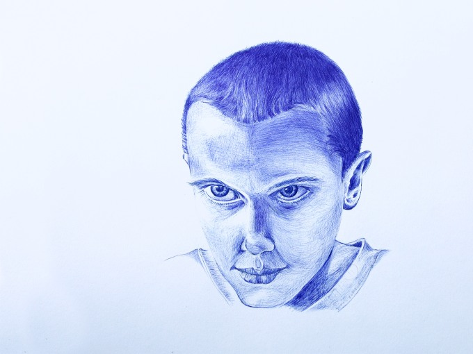 Back to Basics – Stranger Things in Ball Point Pen